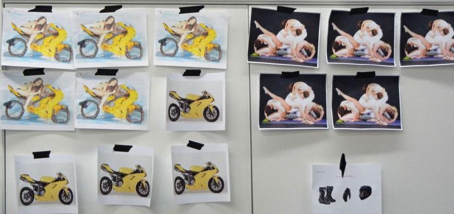 人体彩绘摩托车 - 博弈聖 - 博 弈 聖