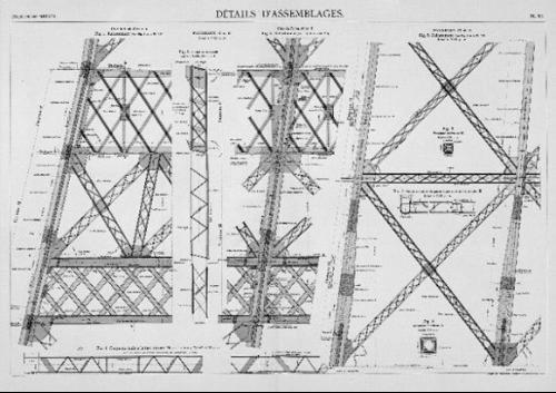 老照片收藏:揭秘埃菲尔铁塔修建过程